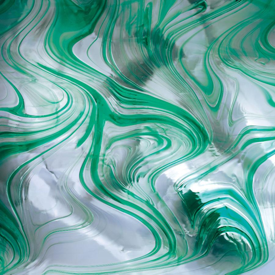 Teal on clear baroque spectrum glass for Clear baroque glass