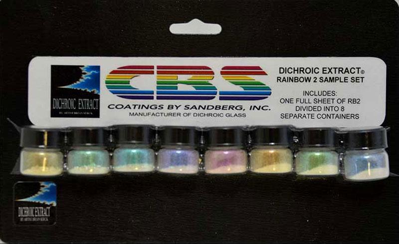 CBS Dichroic Extract 8 Piece Rainbow 2 Sample Set