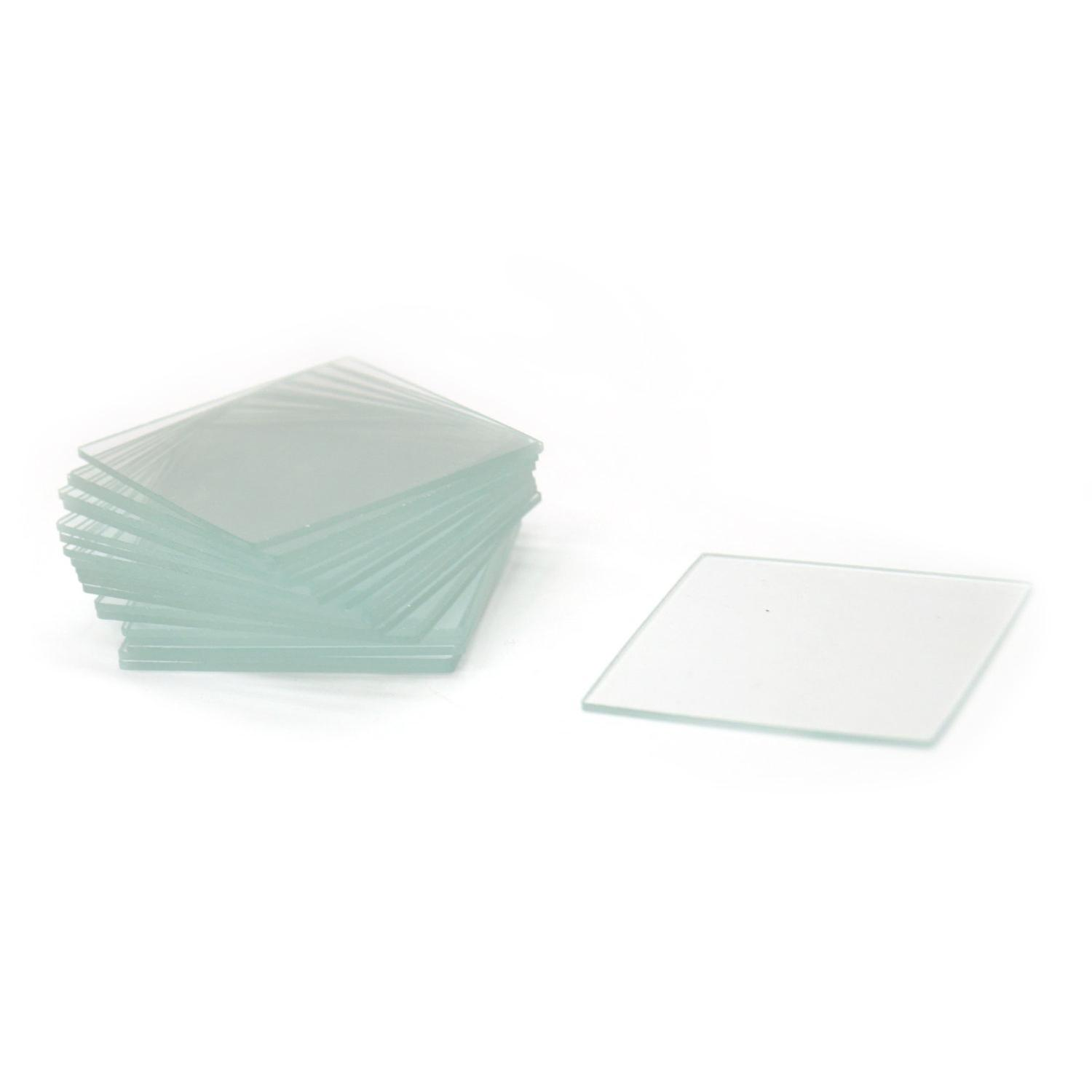 1-1/2 Square Micro Thin Glass - 20 Pack