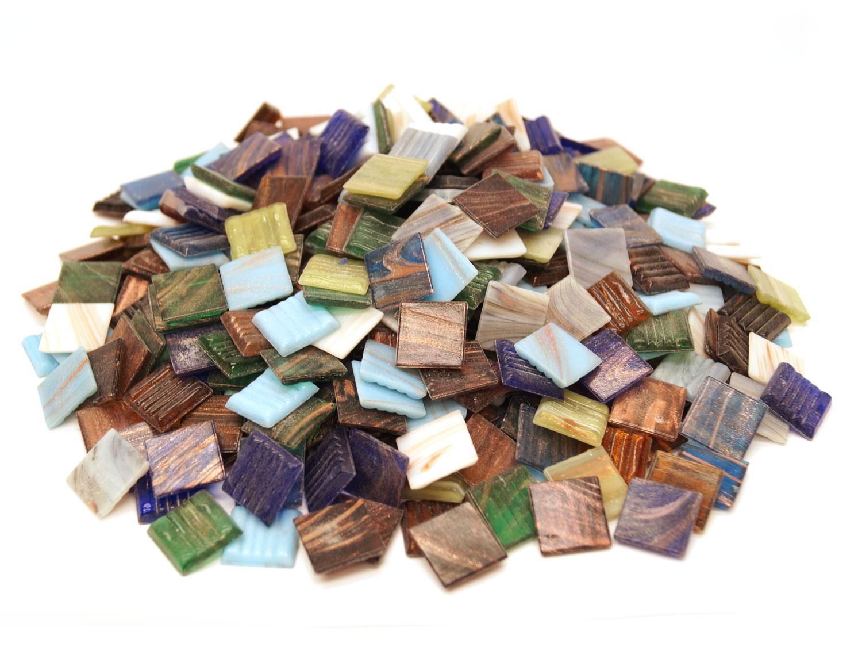 3/4 Gold Streaky Venetian Tile Value Mix - 3 lb