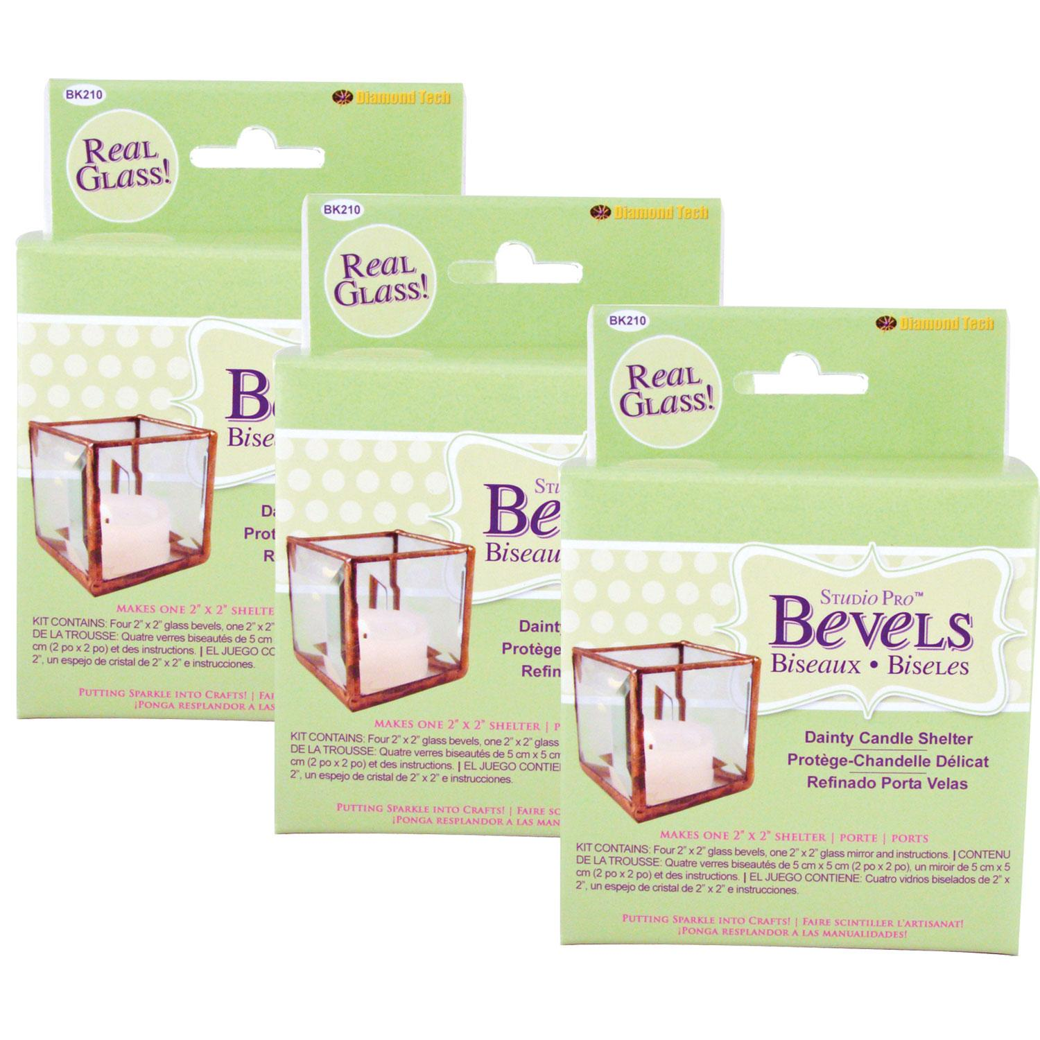 Small Candle Shelter Bevel Kit - 3 Pack