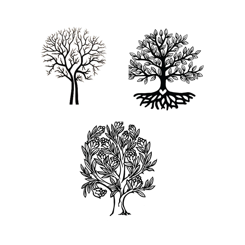 Delphi Trees Black Enamel Decals