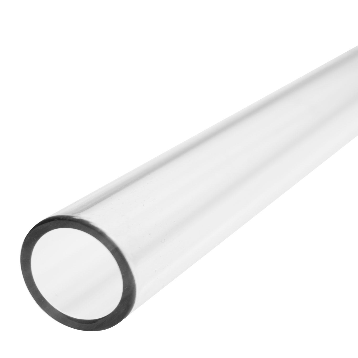 25.4mm Clear Simax Tube, 4mm Wall - 33 COE