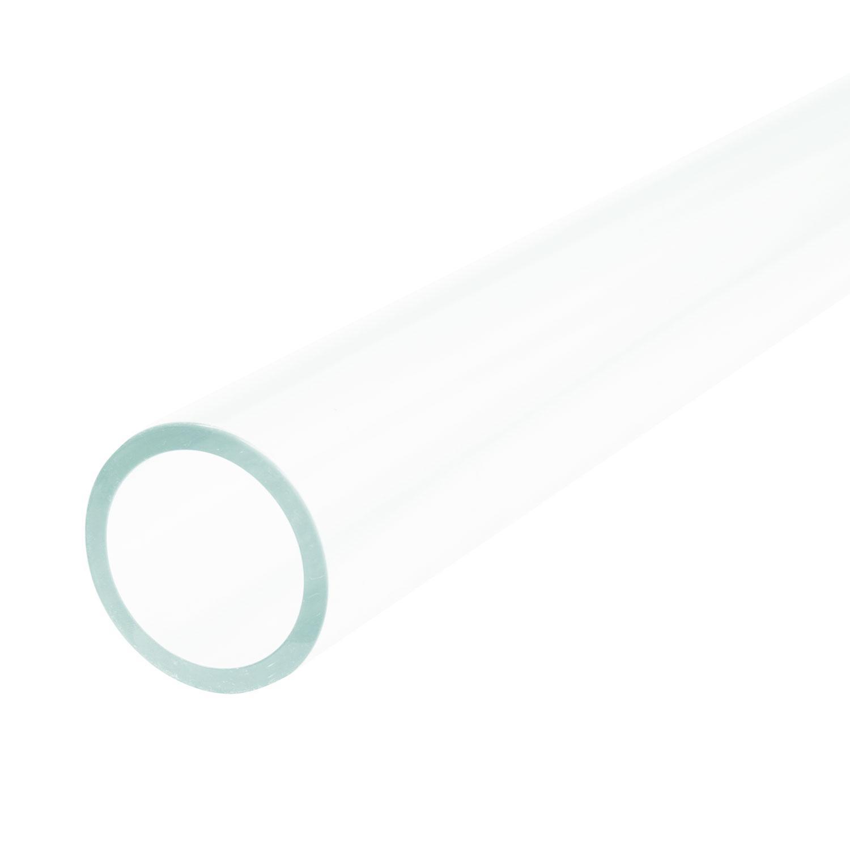 44.4mm Clear Simax Tube, 4mm Wall - 33 COE