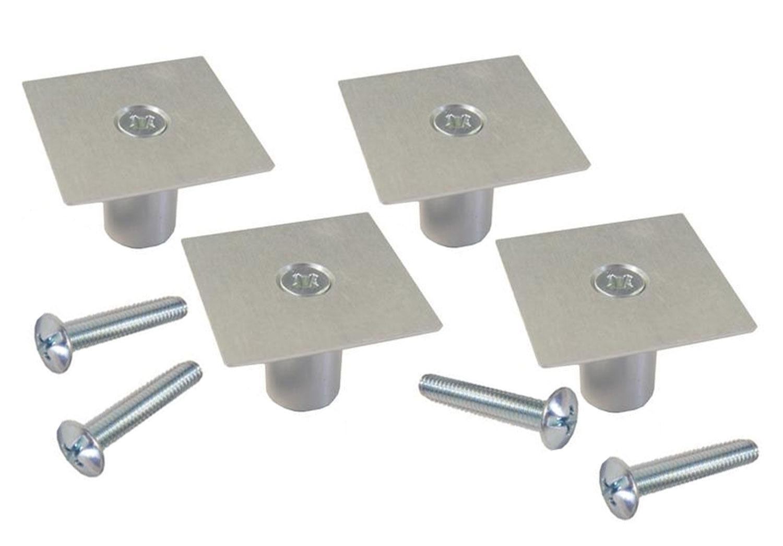 1-1/4 Square Knob - 4 Pack