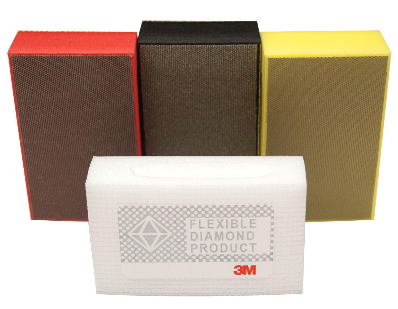 3M Diamond Hand Pad - 4 Piece Set