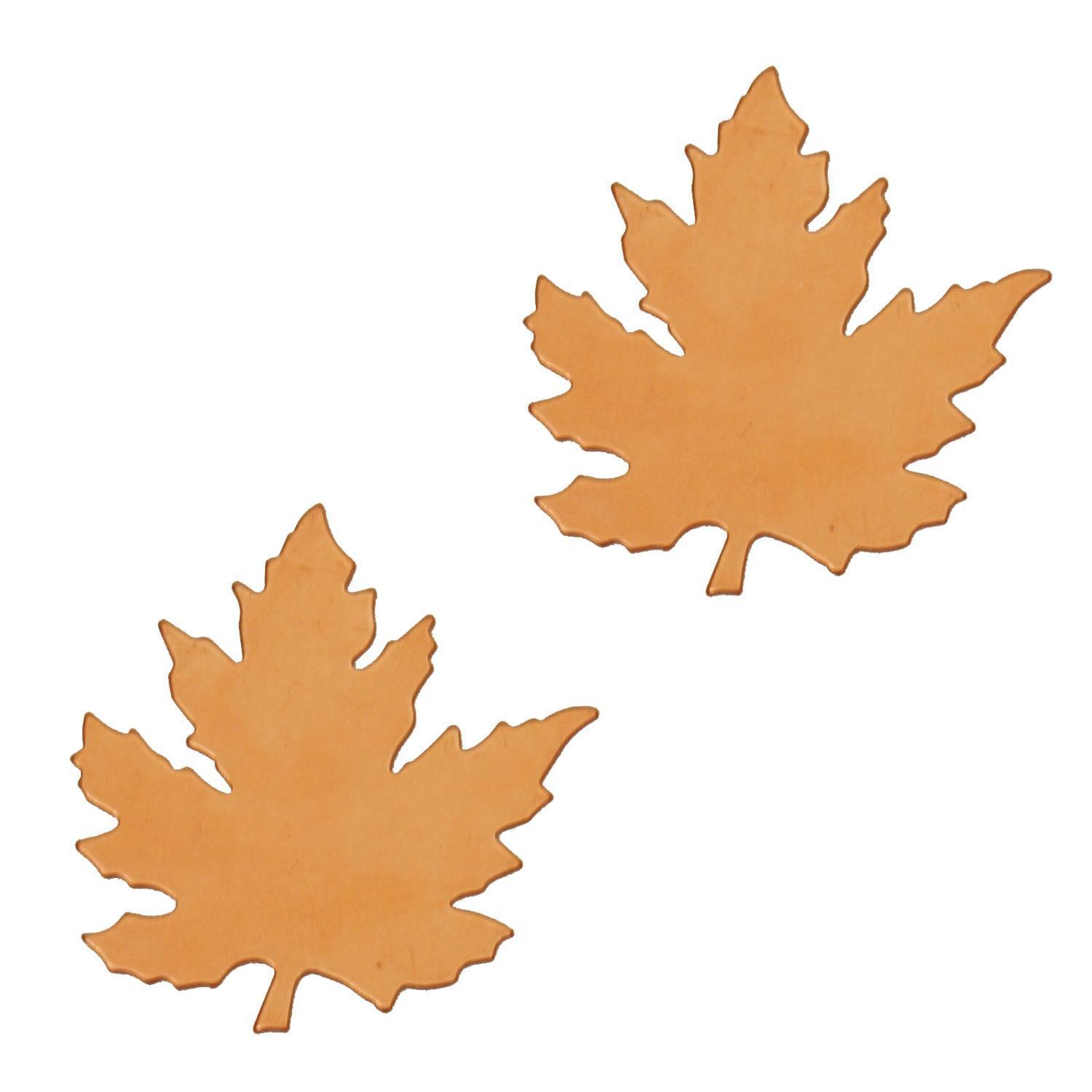 Small Maple Leaf Copper Shape - 2 Pack