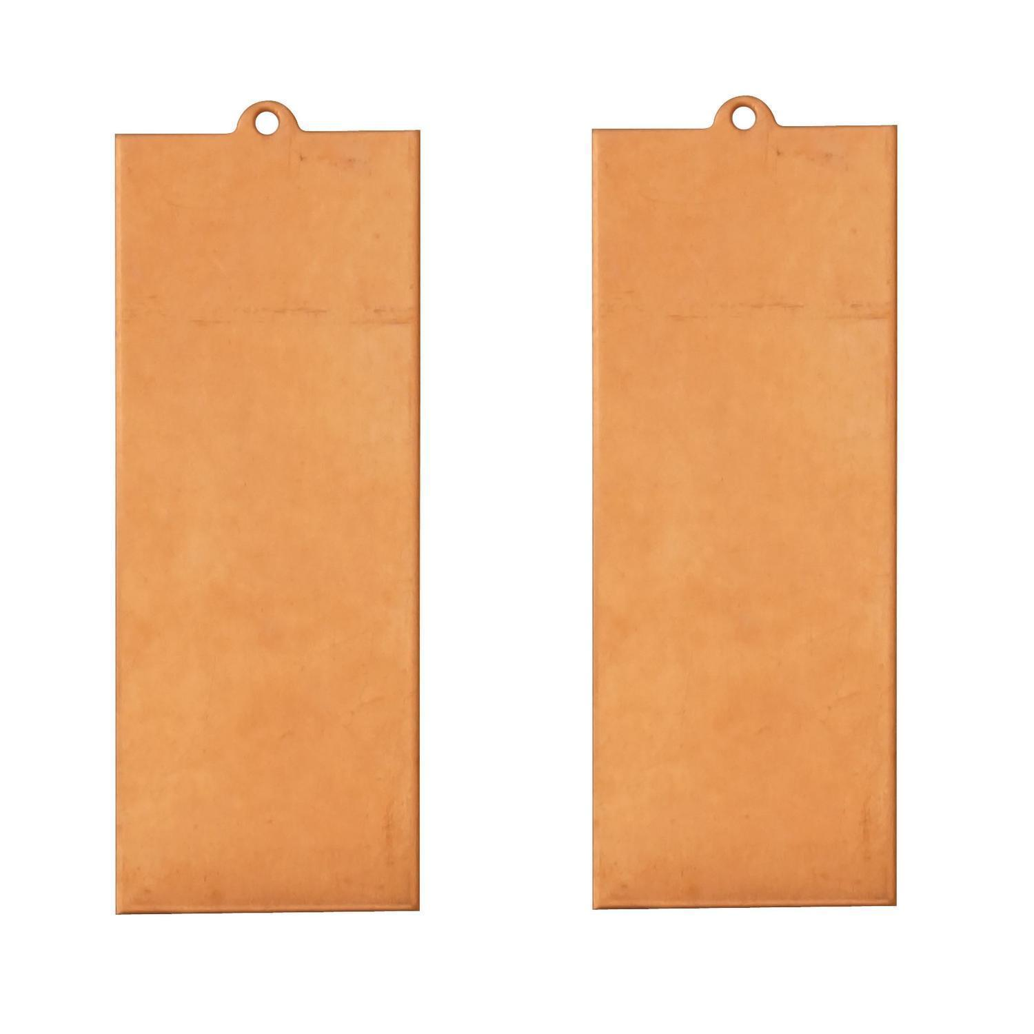 Rectangle Copper Shape with Tab - 2 Pack