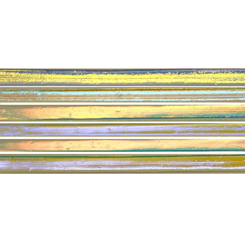 CBS Dichroic on Clear Noodle 6 Piece Assortment - 90 COE