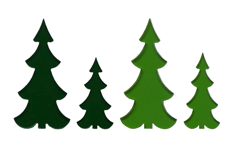 Slim Trees Fusible Pre-Cut Assortment 4 Pack - 90 COE