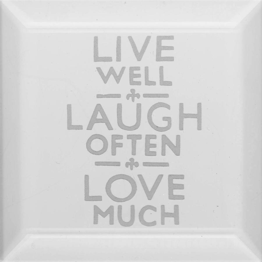 Delphi Studio Live Laugh Love Engraved Bevel