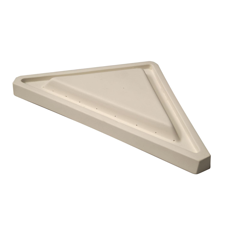 10-1/2 x 10-1/2 x 14 Straight Edge Triangular Plate Mold