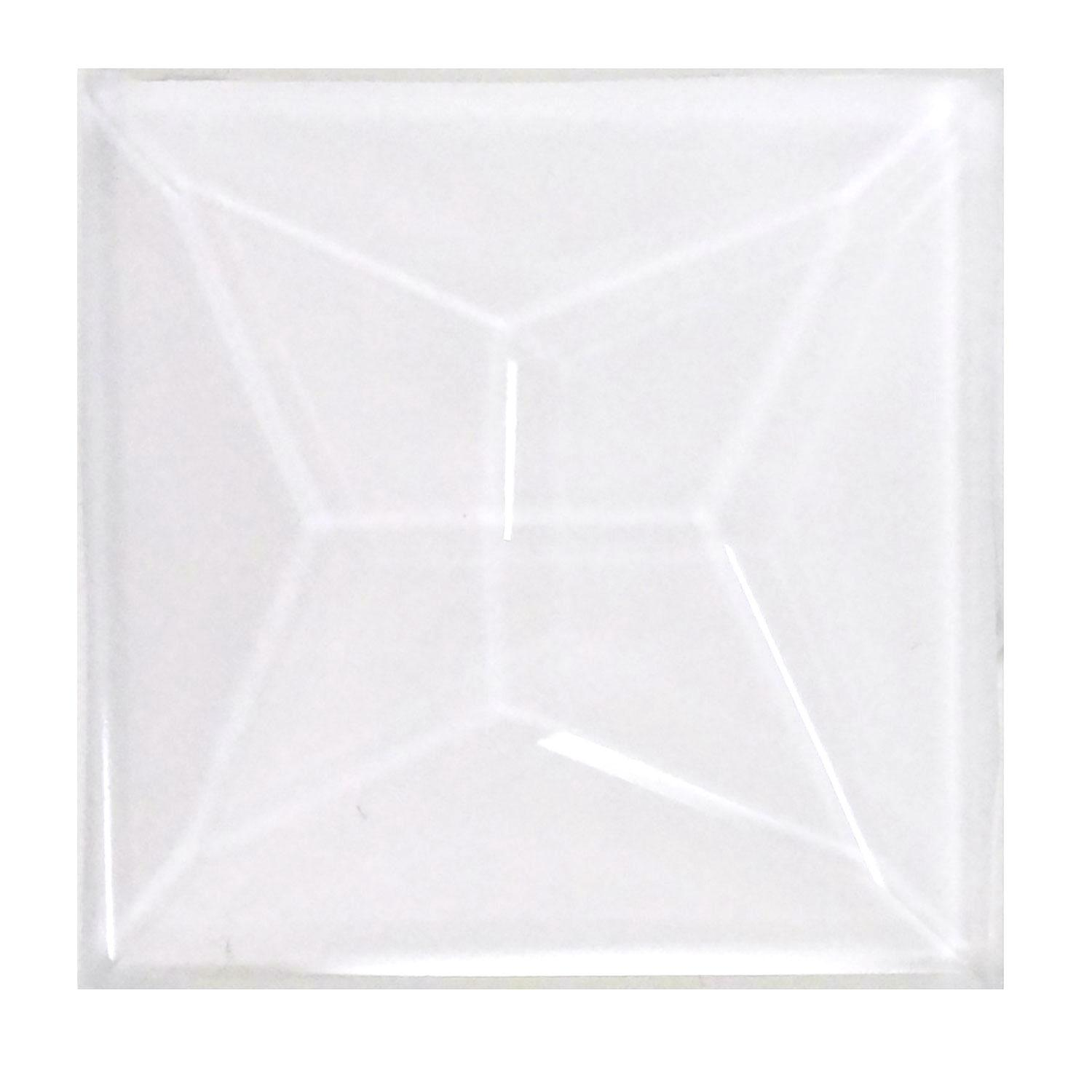 1 Square Teardrop Faceted Clear Bevel - Box of 30
