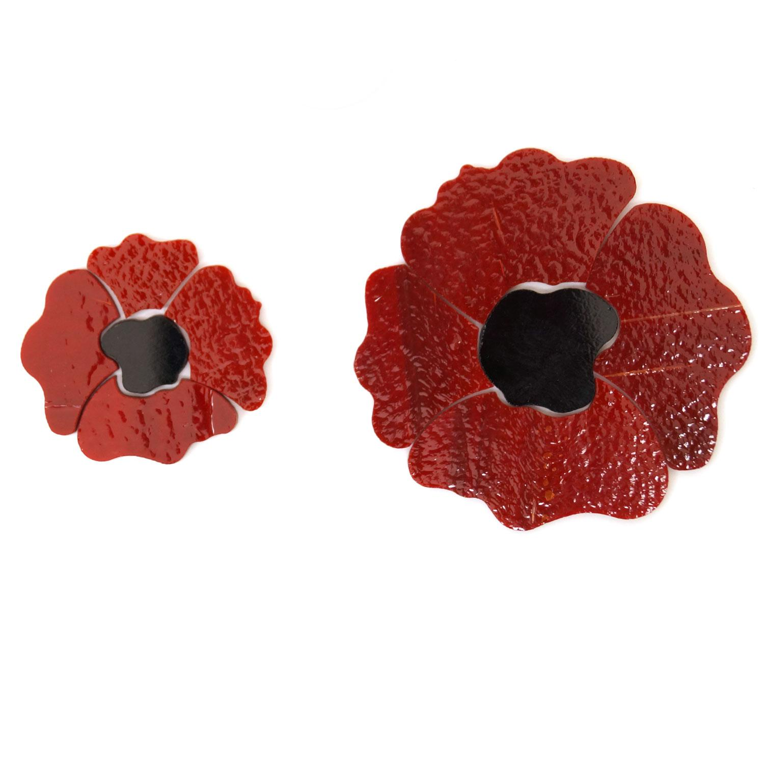 Red Poppy Fusible Pre-Cut 2 Pack - 90 COE