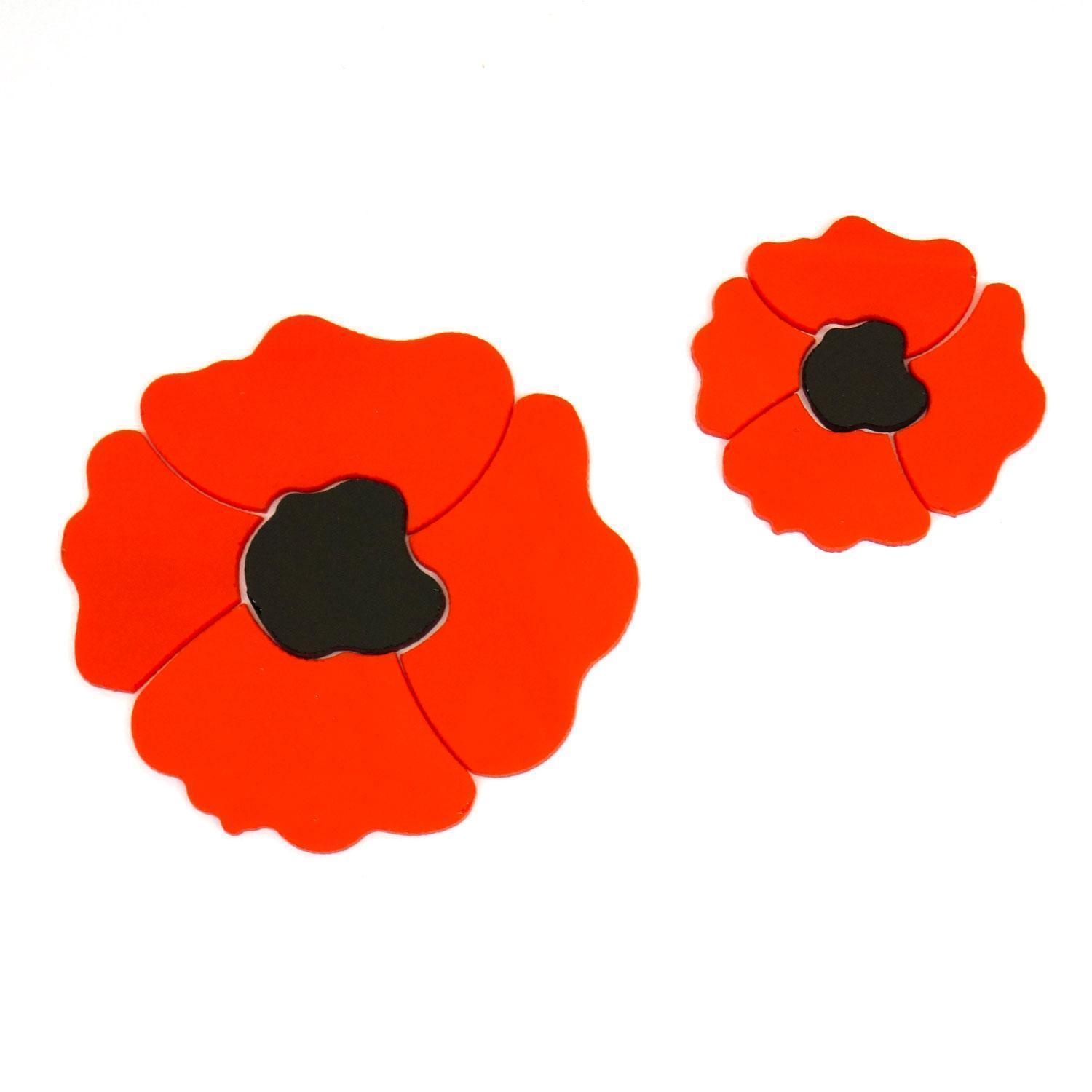 Red Poppy Fusible Pre-Cut 2 Pack - 96 COE
