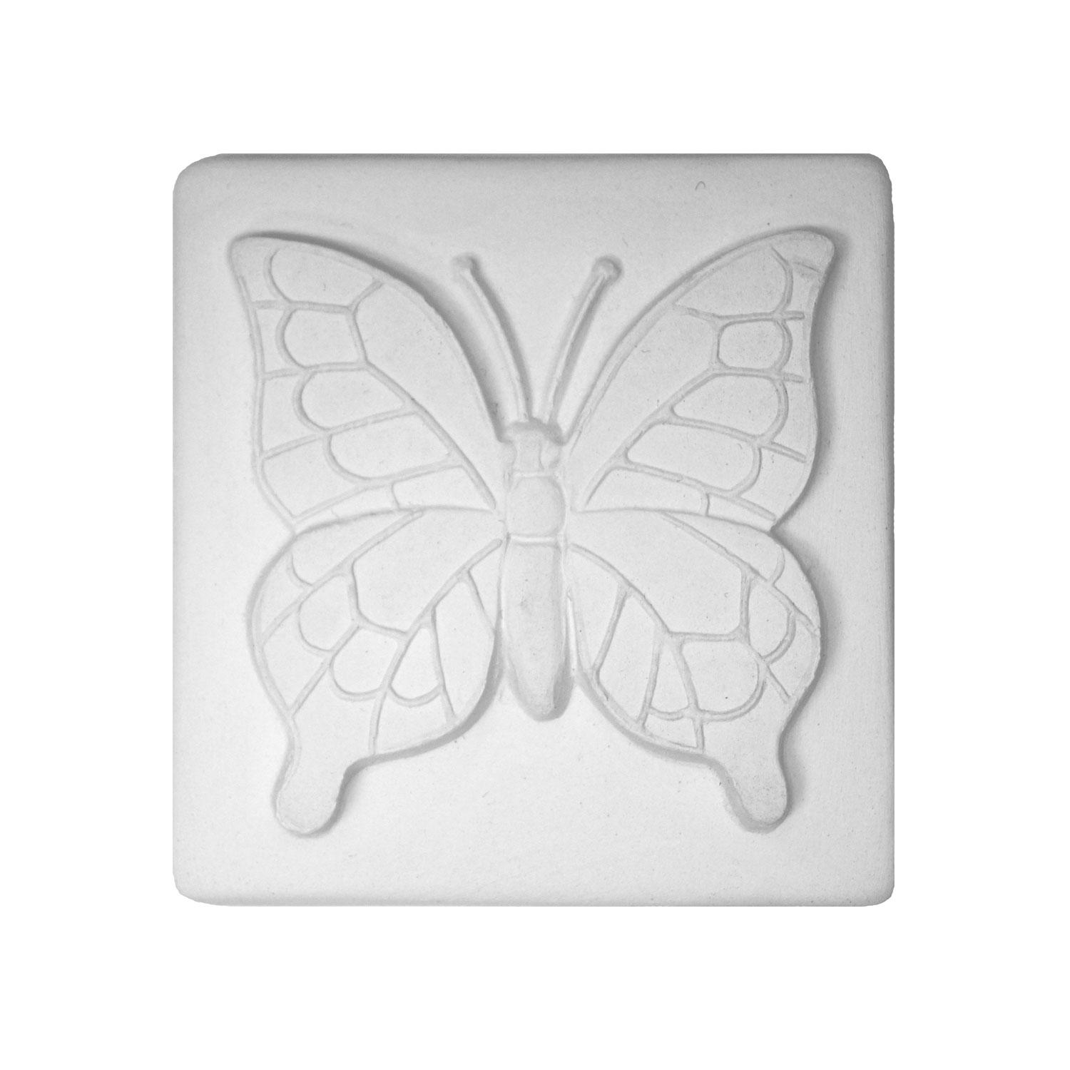 Delphi Studio Large Butterfly Impression Tile