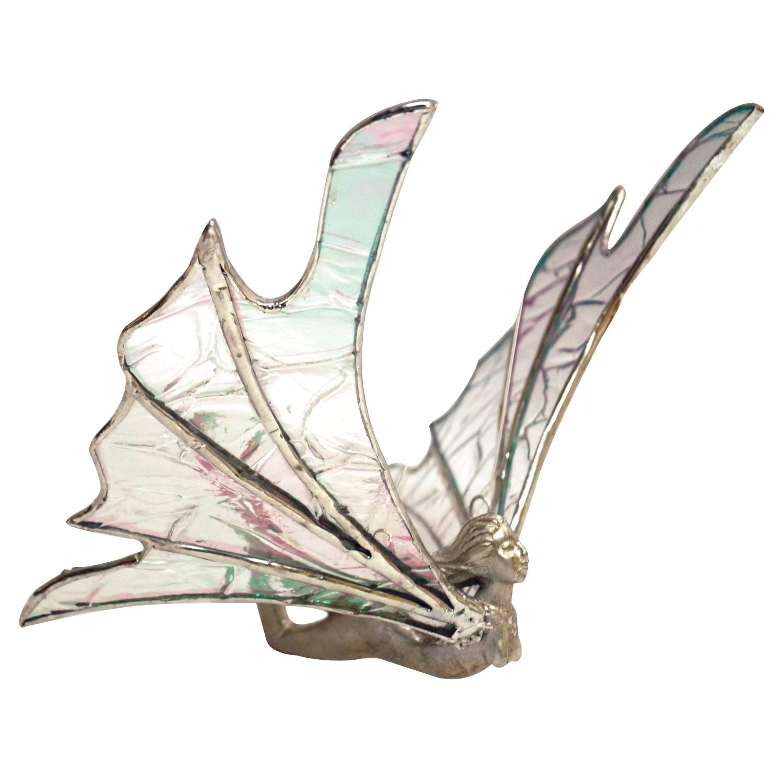 Flying Nymph Lead Free Metal Figurine