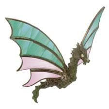 Flying Dragon Lead Free Metal Figurine