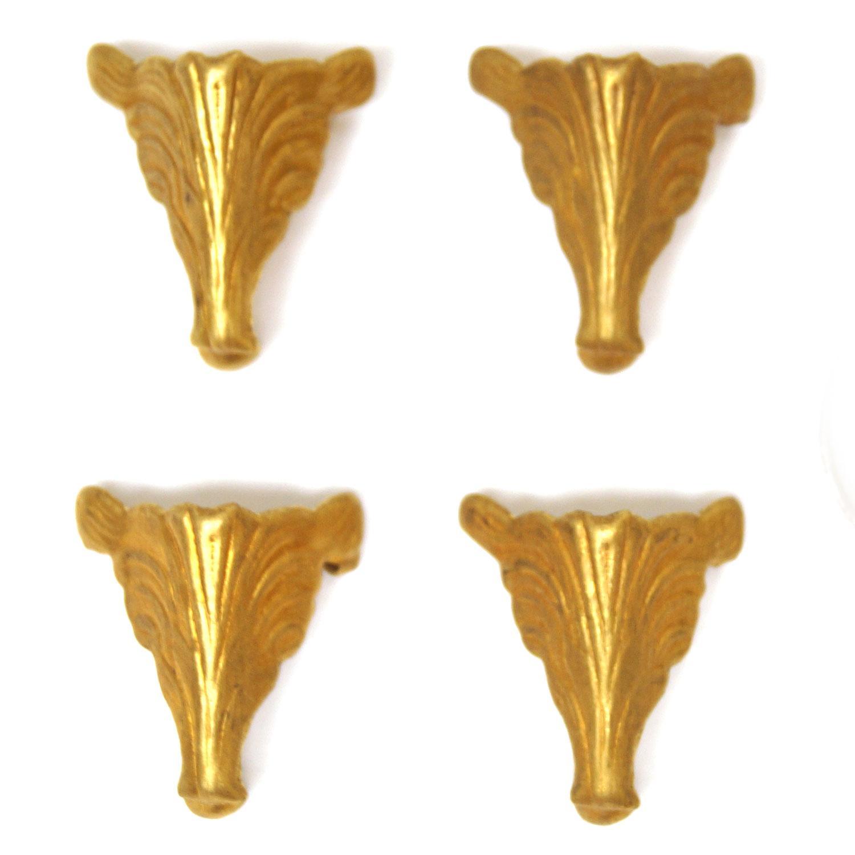 Fancy Brass Box Feet - 12 Pack