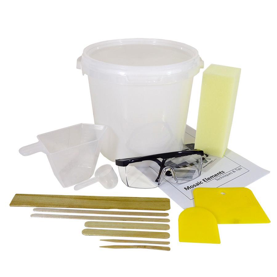 Mosaic Elements Tool Kit Grout Cement Delphi Glass