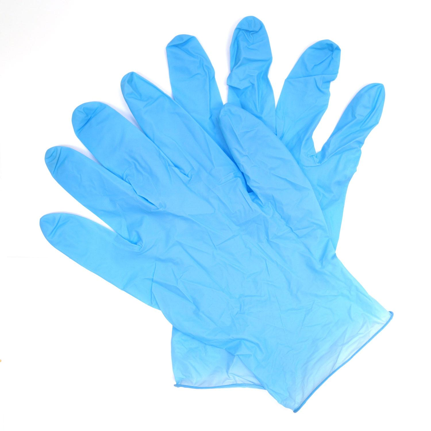 Blue Nitrile Gloves - Box Of 100