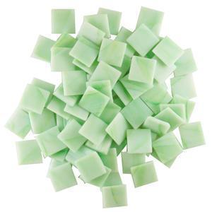 3/4 Cloudy Green Glass Tile - 1/2 lb