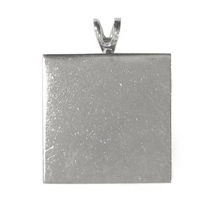 Fuseworks Square Silver Pendant Plates - 16 Pack