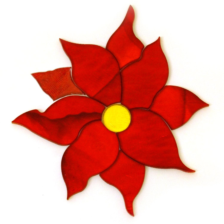 Poinsettia Flower Fusible Pre-Cut - 90 COE