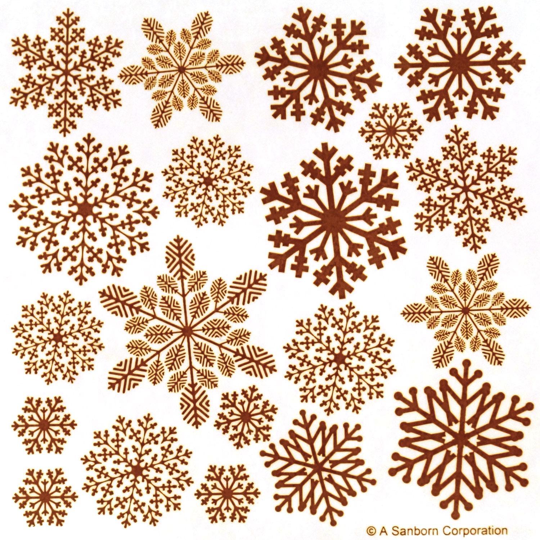 Gold Ornate Snowflake Enamel Decals