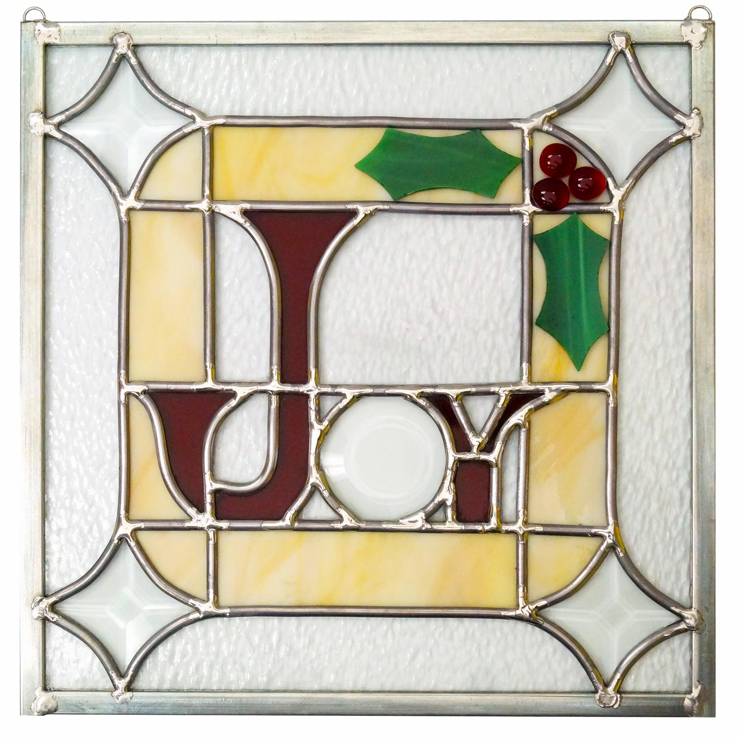 Free Joy Lead Came Panel Project Guide Holiday Patterns
