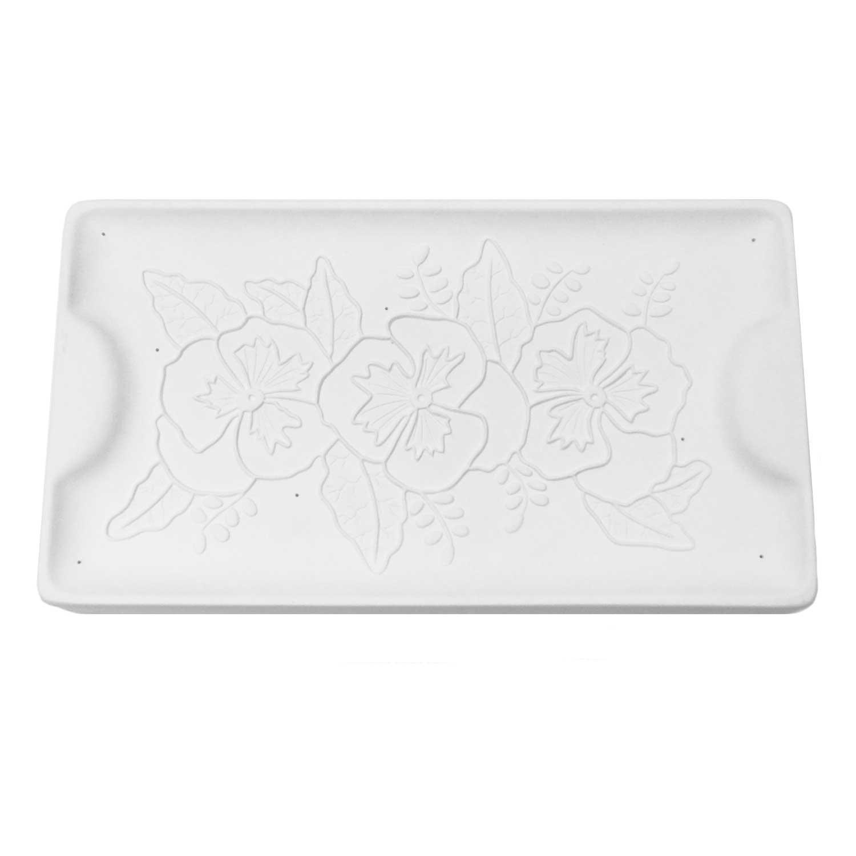 13-1/4 x 7-1/4 Pansy Texture Tray Mold