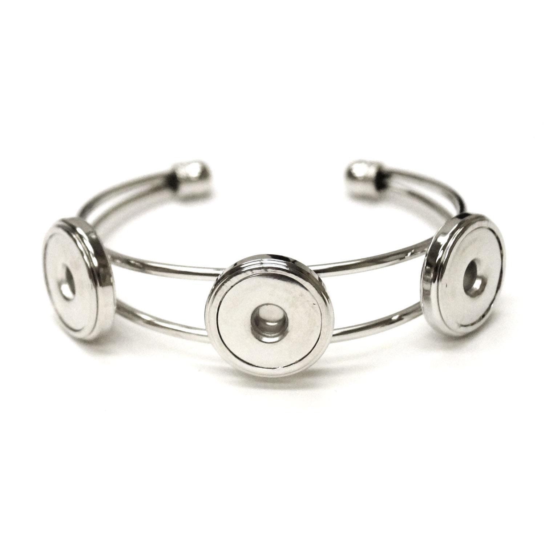 Triple Snap Cuff Bracelet