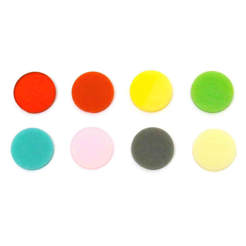 1 Circle Rainbow Assortment Fusible Pre-Cut 8 Pack - 90 COE