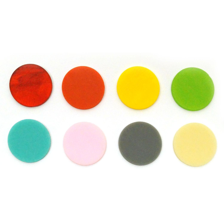 1-1/2 Circle Rainbow Assortment Fusible Pre-Cut 8 Pack - 90 COE