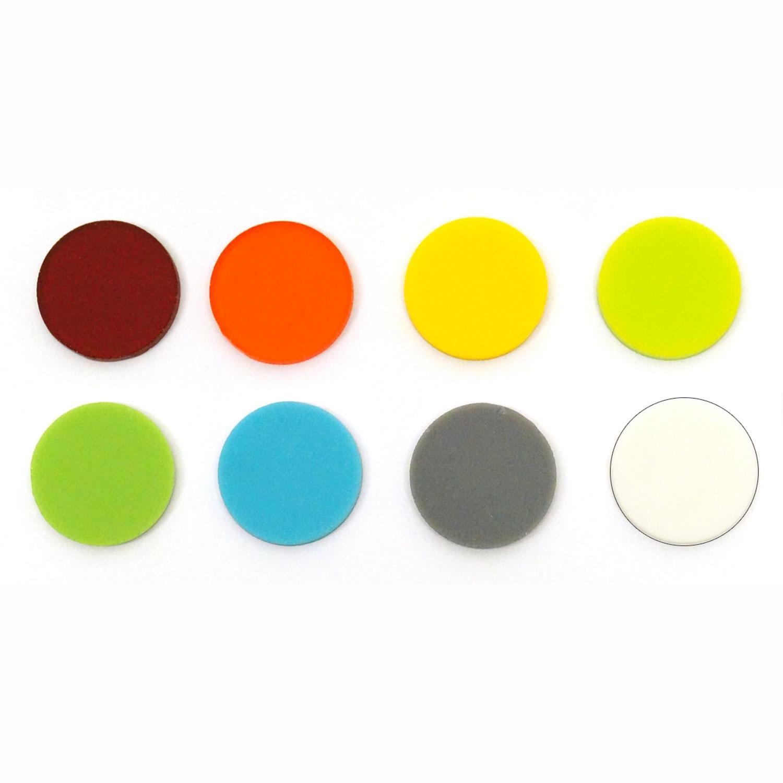 1 Circle Rainbow Assortment Fusible Pre-Cut 8 Pack - 96 COE