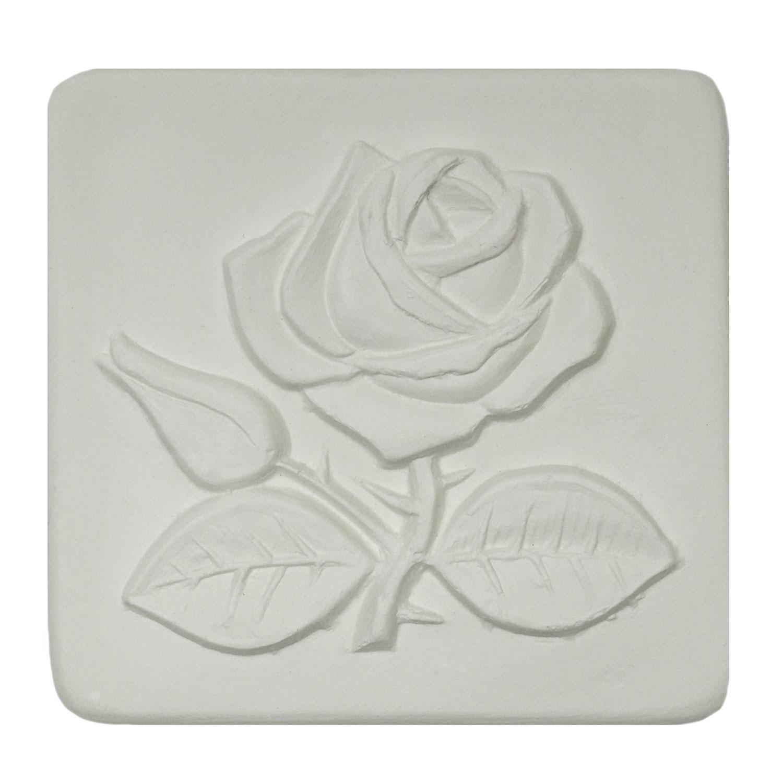 Delphi Studio Rose With Stem Impression Tile