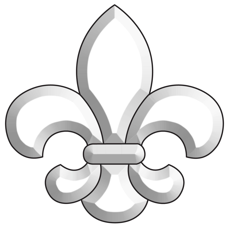 Large Fleur-de-Lis Bevel Cluster