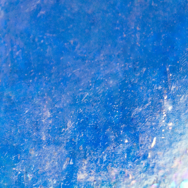 Kokomo Light Wedgwood Blue Light Seedy Transparent Iridized