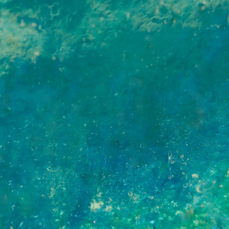 Kokomo Turquoise Blue Green Light Seedy Transparent Iridized