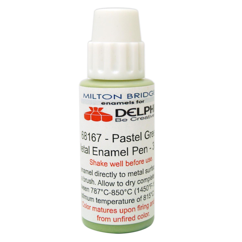 Pastel Green Glass & Metal Enamel Pen - 30 ml