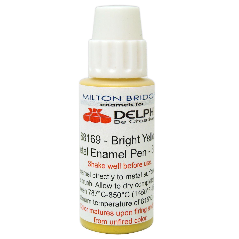 Bright Yellow Glass & Metal Enamel Pen - 30 ml