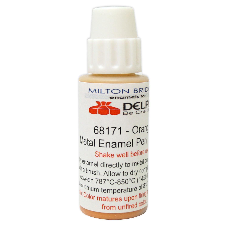 Orange Glass & Metal Enamel Pen - 30 ml