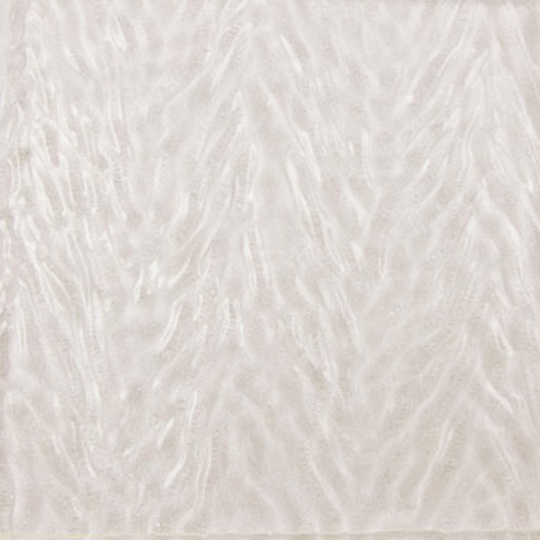 Oceanside Clear Herringbone Granite Ripple Hand-Rolled Transparent - 96 COE