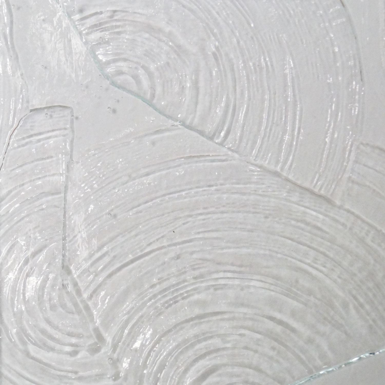 Kokomo clear rondalite textured opalescent glass textured for Clear glass texture