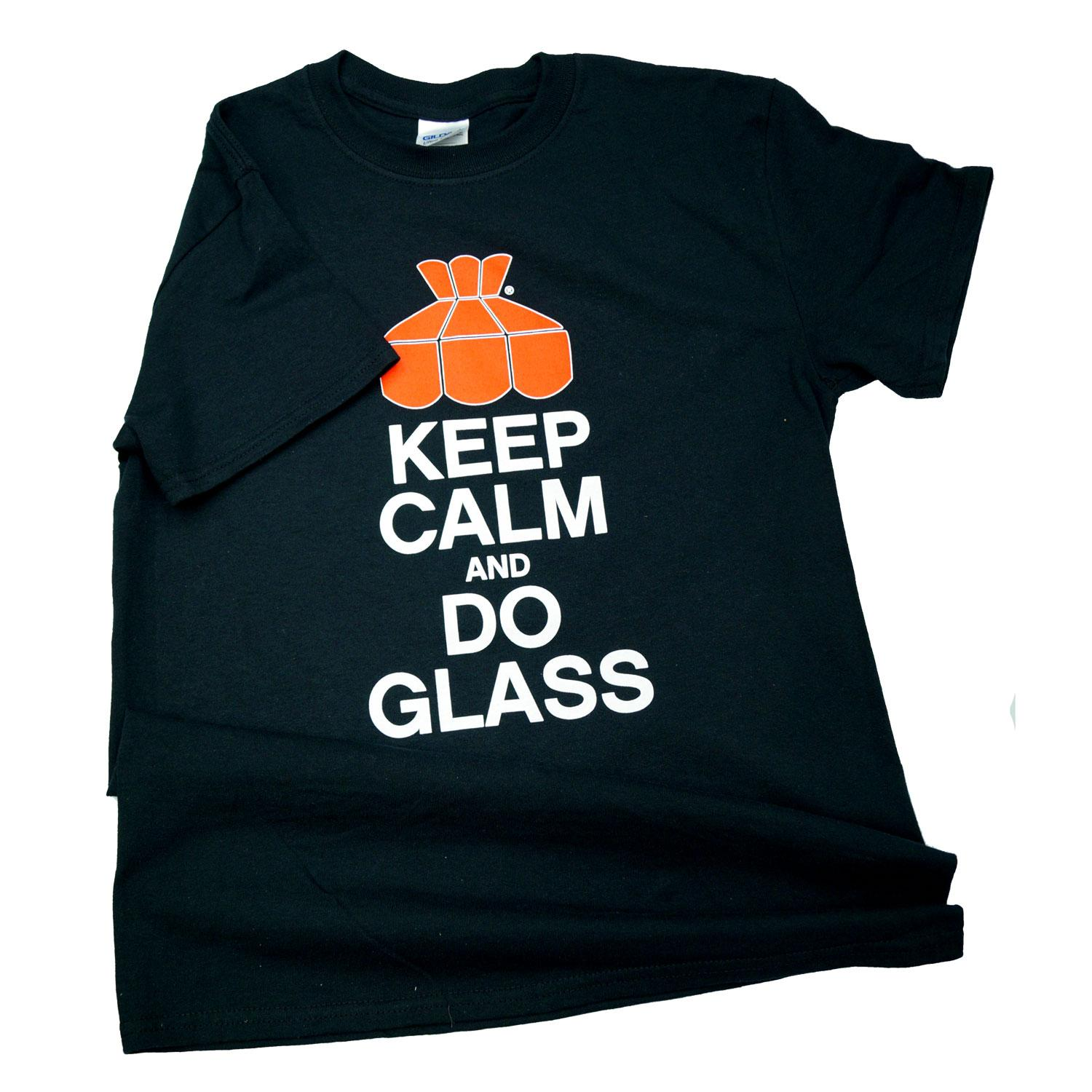 Keep Calm And Do Glass T-Shirt M