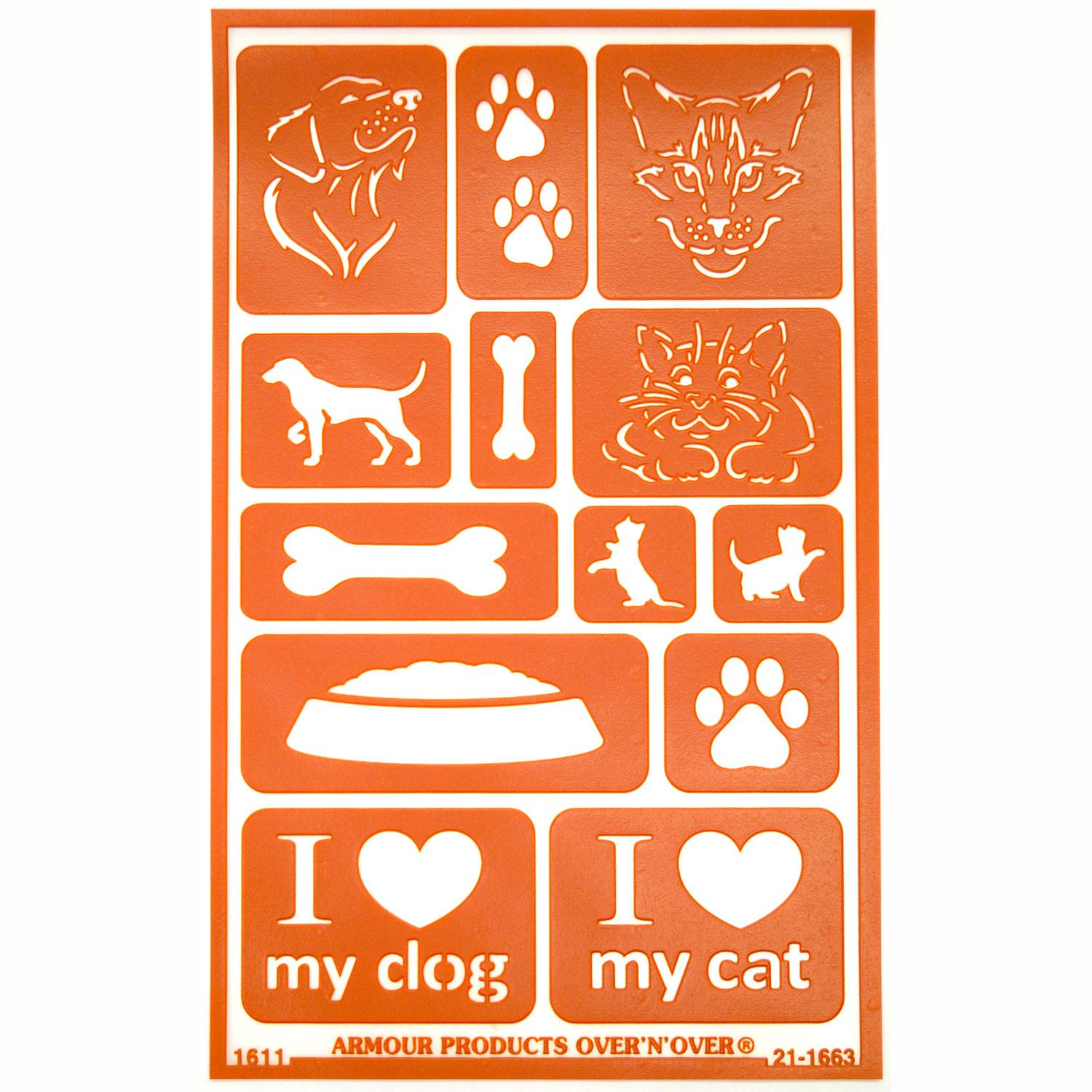 Over N Over Paw Stencils