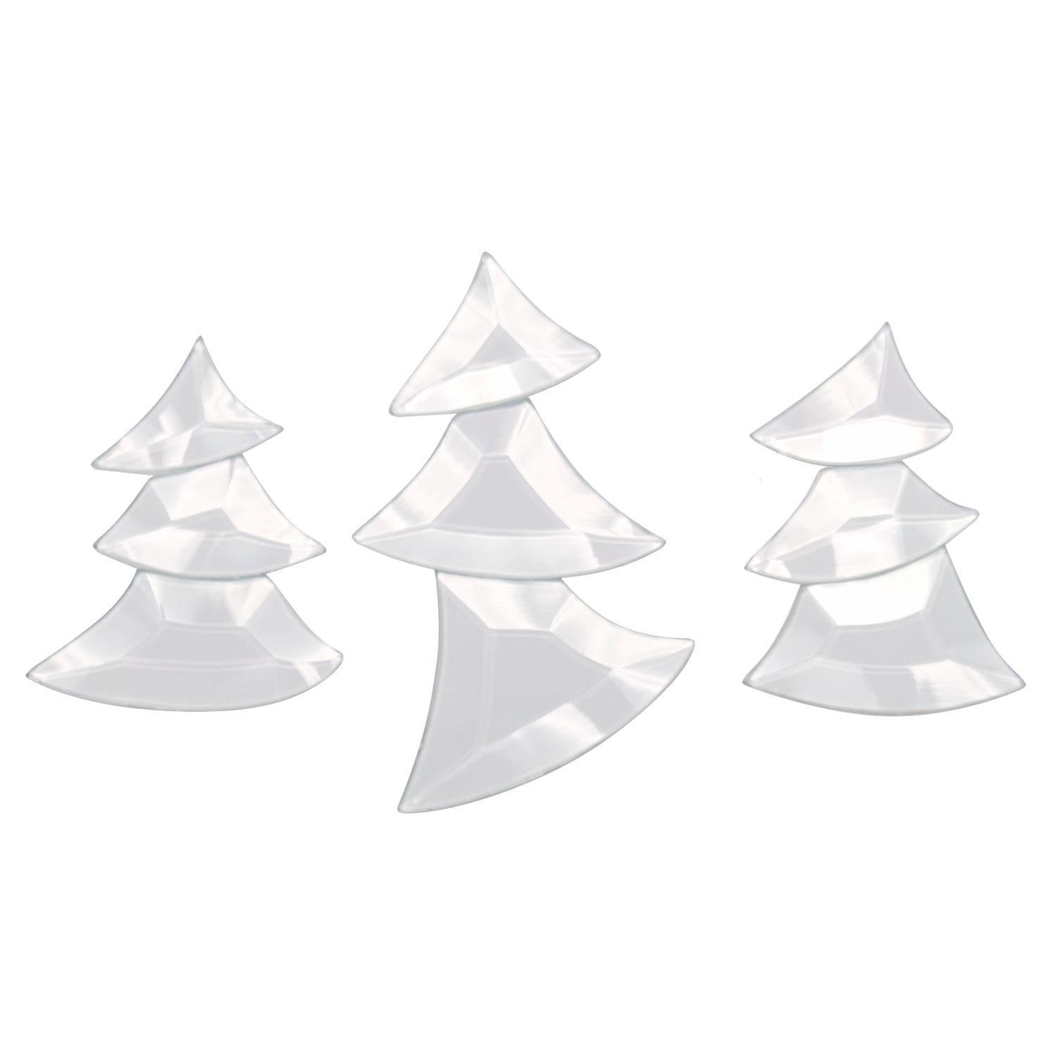 Dancing Christmas Trees Bevel Clusters | Religious Holiday Delphi Glass