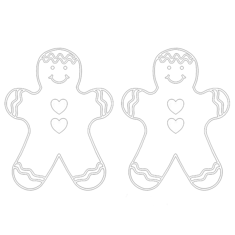 Gingerbread Man White Enamel Decal - 2 Pack