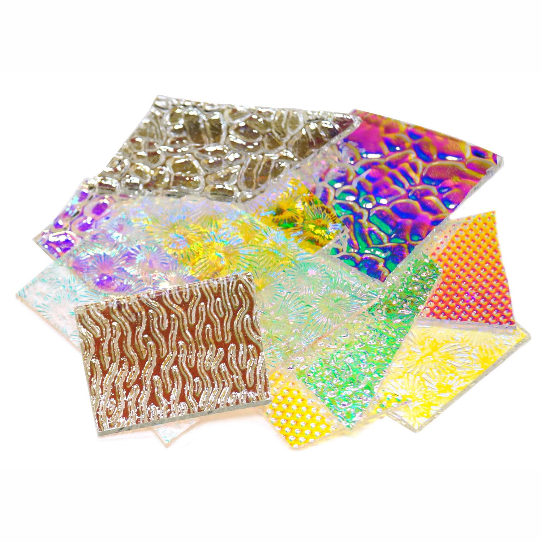1/2 Lb CBS Wissmach Texture Scrap On Clear - 96 COE
