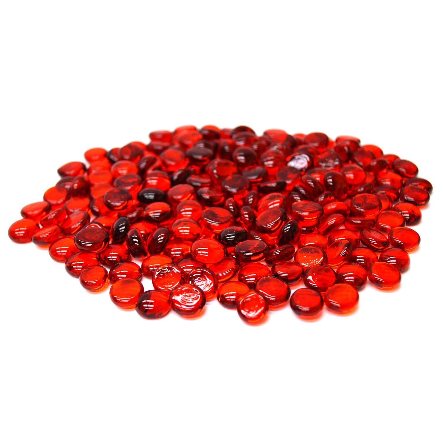 Small Red Transparent Nuggets - 1 Lb.